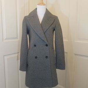 ZARA DOUBLE BREASTED WOOL TRENCH COAT